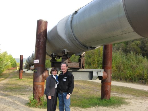 The Oil Pipeline near Fairbanks, Alaska